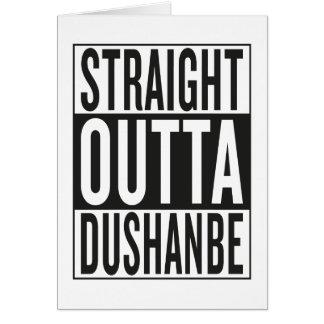 gerades outta Dushanbe Karte