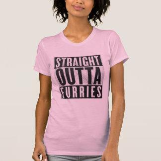 Gerades Outta Furries lustiges grafisches T-Stück T-Shirt