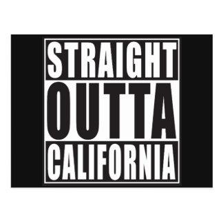 Gerades Outta Kalifornien Postkarte