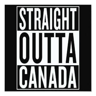 gerades outta Kanada Karte