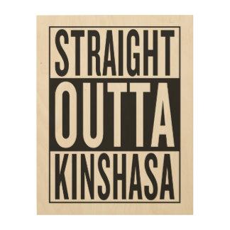 gerades outta Kinshasa Holzleinwände