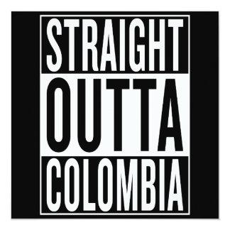 gerades outta Kolumbien Karte