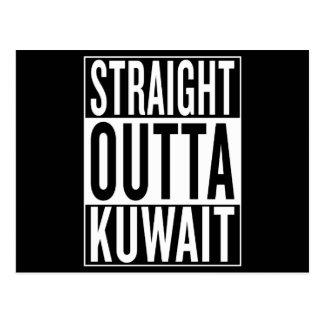 gerades outta Kuwait Postkarte