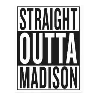 gerades outta Madison Postkarte