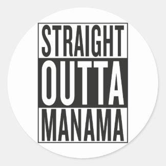 gerades outta Manama Runder Aufkleber