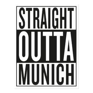 gerades outta München Postkarte