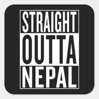 gerades outta Nepal Quadratischer Aufkleber