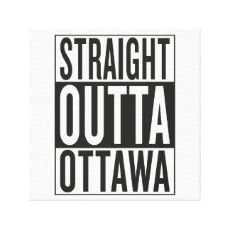 gerades outta Ottawa Leinwanddruck