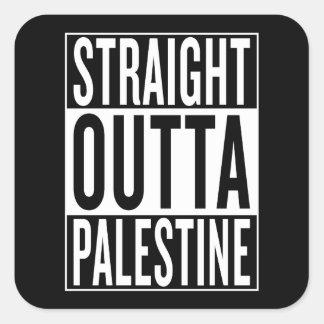 gerades outta Palästina Quadratischer Aufkleber