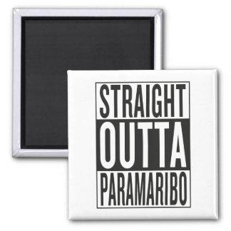 gerades outta Paramaribo Quadratischer Magnet