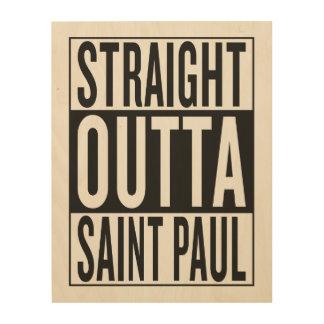 gerades outta Saint Paul Holzwanddeko