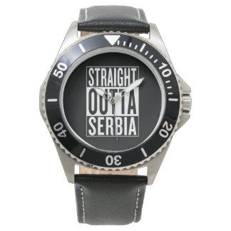 gerades outta Serbien Armbanduhr