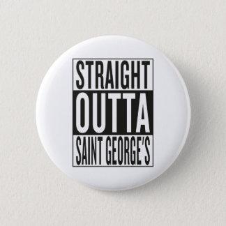 gerades outta St George Runder Button 5,1 Cm