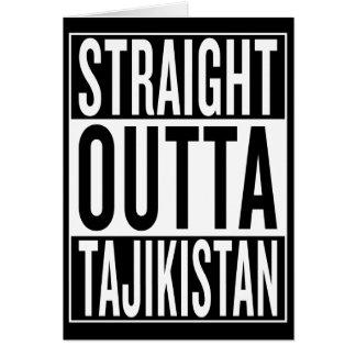 gerades outta Tadschikistan Karte