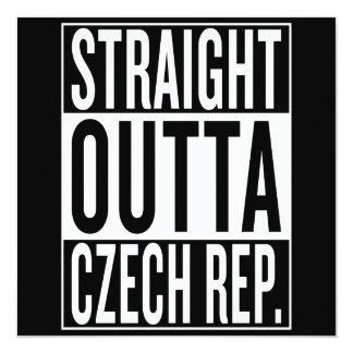 gerades outta Tschechische Republik Karte