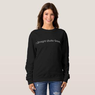 Gerades Sweatshirt-Schwarzes Outta Grab-| (W) Sweatshirt