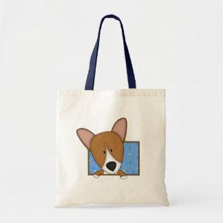 Gerahmte Cartooncorgi-Taschen-Tasche