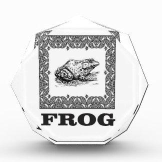 gerahmte Froschgrafik Auszeichnung