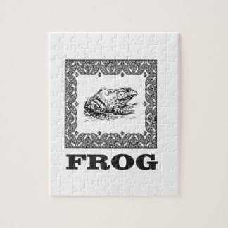 gerahmte Froschgrafik Puzzle