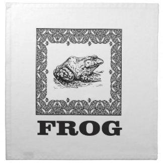 gerahmte Froschgrafik Stoffserviette