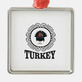 Gerahmte Kunst der Türkei Silbernes Ornament