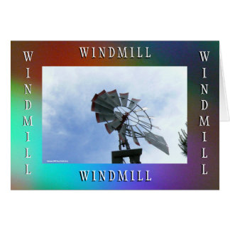 Gerahmte städtische Windmühle 4 Karte