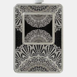 Gerahmte VerzierungMandala Mehndi Art G384 Rahmen-Ornament Silber