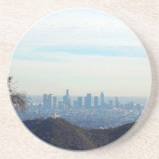 Gerahmter Berg des LA Sandstein Untersetzer