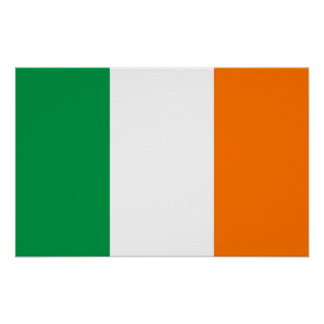 Gerahmter Druck mit Flagge von Irland Poster