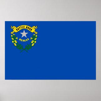 Gerahmter Druck mit Flagge von Nevada, USA Poster