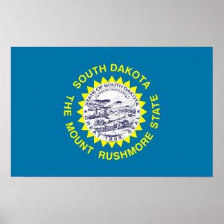 Gerahmter Druck mit Flagge von South Dakota, USA Poster