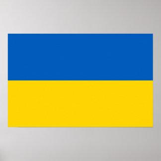 Gerahmter Druck mit Flagge von Ukraine Poster