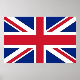 Gerahmter Druck mit Flagge von Vereinigtem Poster
