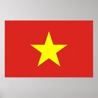Gerahmter Druck mit Flagge von Vietnam Poster