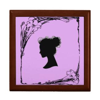 gerahmter Kasten der lila Miniatur Erinnerungskiste