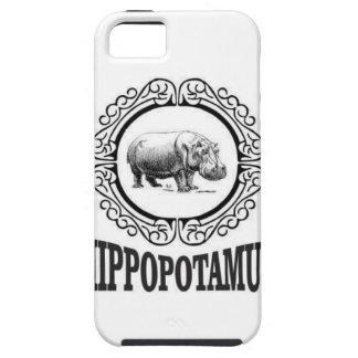 Gerahmtes Flusspferd iPhone 5 Etuis