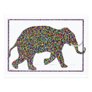Geraldglaspunkt-laufende Elefant-Postkarte Postkarte