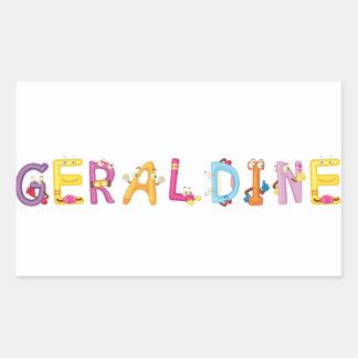 Geraldine-Aufkleber Rechteckiger Aufkleber
