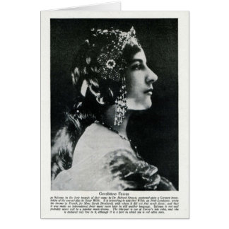 Geraldine Farrar 1915 Vintage Porträtkarte Karte
