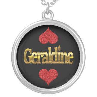 Geraldine-Halskette Versilberte Kette