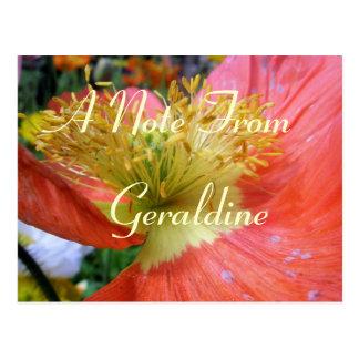 Geraldine Postkarte