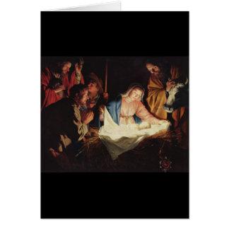 Gerard van Honthorst Nativity Grußkarte