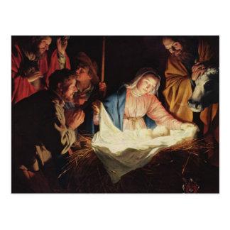 Gerard van Honthorst Nativity Postkarte