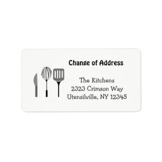 Geräte für die Küchen-neue Adresse Adressetikett