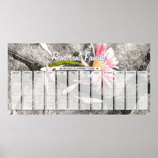 Gerber Gänseblümchen-kundenspezifischer Familien-G Poster