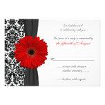 Gerber Gänseblümchen-rote schwarze Personalisierte Einladung