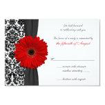 Gerber Gänseblümchen-rote schwarze 8,9 X 12,7 Cm Einladungskarte