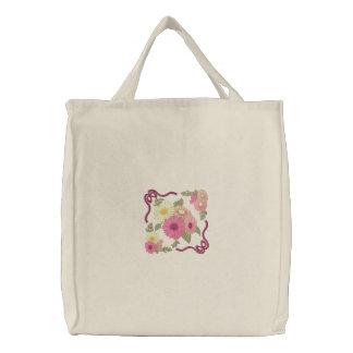 Gerbera-Gänseblümchen Leinentasche