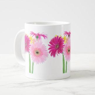 Gerbera-Gänseblümchen Piink Blumen Jumbo-Tasse