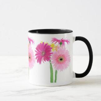 Gerbera-Gänseblümchen Piink Blumen Tasse